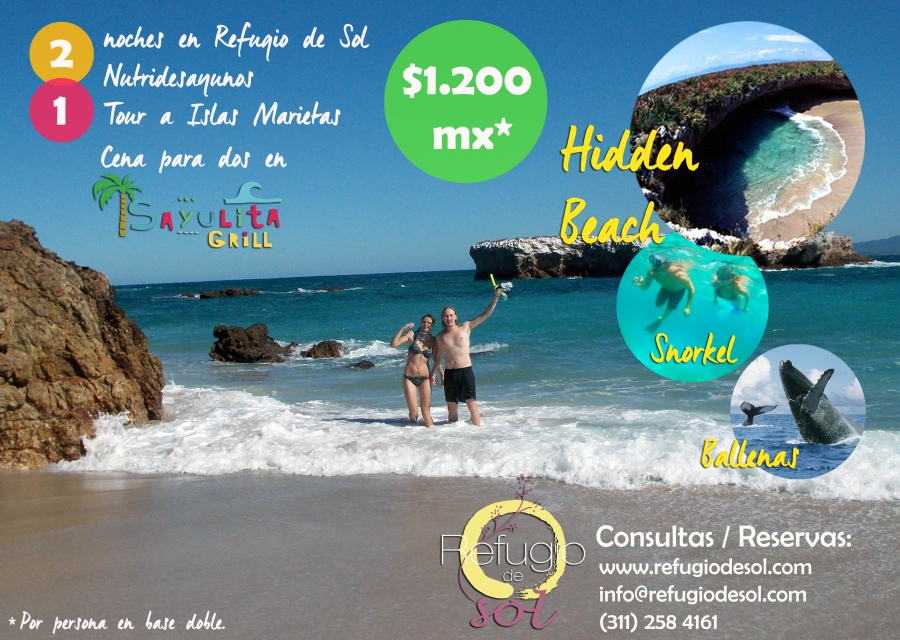 DESCUBRE ISLAS MARIETAS - San Pancho en pareja - RELAX / AMOR / AVENTURA